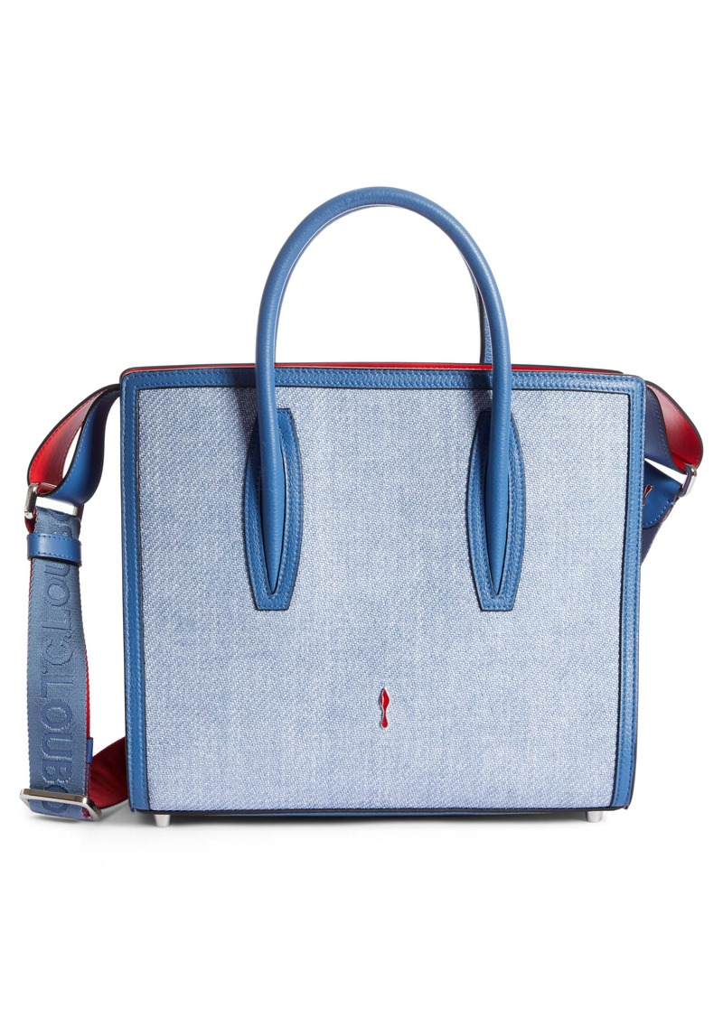 Christian Louboutin Medium Paloma Textile & Calfskin Leather Tote