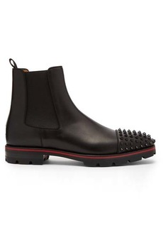 Christian Louboutin Melon spike-embellished leather chelsea boots