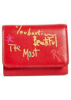 Christian Louboutin Mini Loubigaga Calfskin Leather Wallet