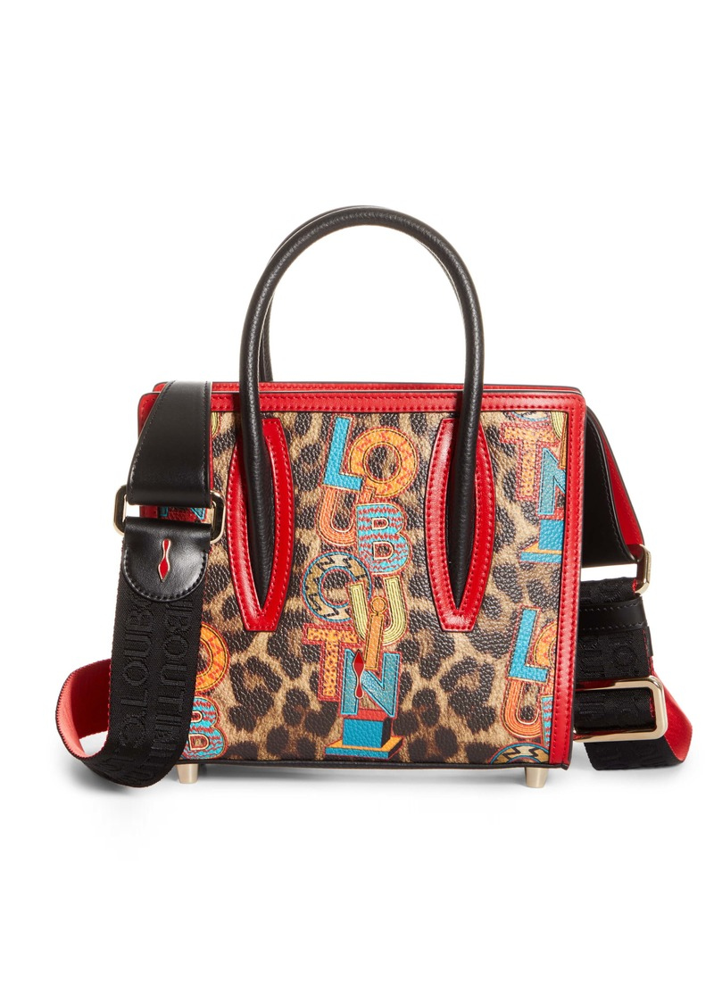 Christian Louboutin Mini Paloma Loubielo Print Calfskin Leather Satchel (Nordstrom Exclusive)