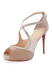 Christian Louboutin Mira Bella Crisscross Platform Red Sole Sandal