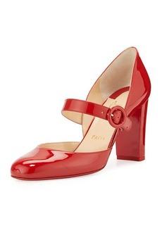 Christian Louboutin Miss Ka Patent Mary Jane Red Sole Pump