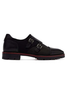 Christian Louboutin Mortisky buckled monk-strap leather shoes