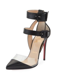 Christian Louboutin Multimiss 100 Leather/PVC Red Sole Pumps
