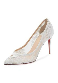 Christian Louboutin Neoalto Lace 85mm Red Sole Pump