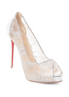 Christian Louboutin New Prive Alençon Lace Platform Pump (Women)