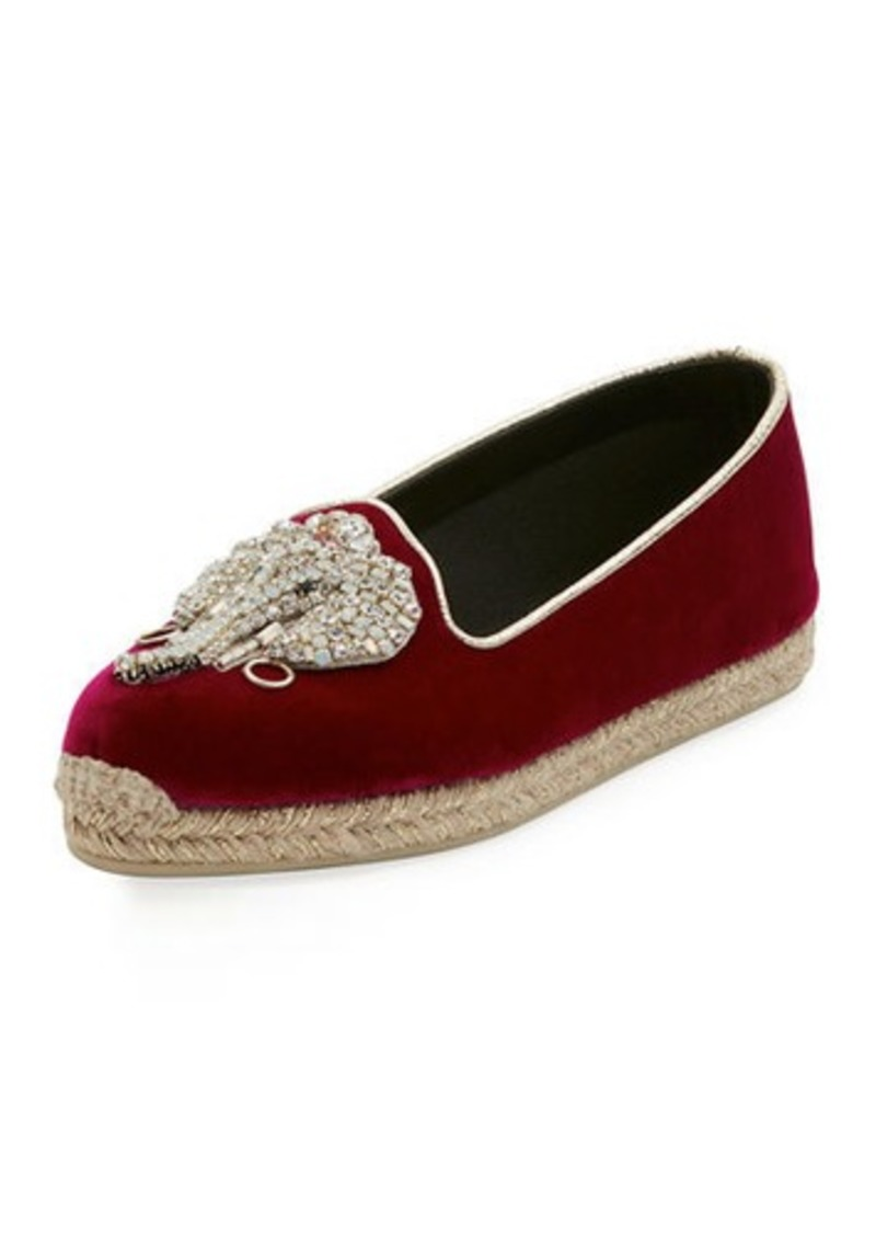 separation shoes 49967 ed597 Noemie Playa Velvet Red Sole Espadrille