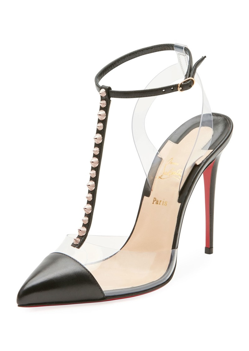 b4ffcc7e891 Christian Louboutin Christian Louboutin Nosy Spiked T-Strap Red Sole ...