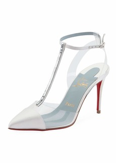 Christian Louboutin Nosy Strass T-Strap Red Sole Pumps