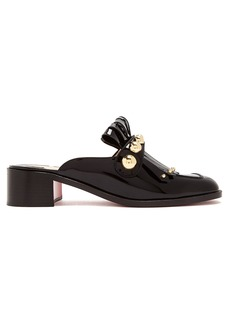 Christian Louboutin Octavian 35 patent-leather mules