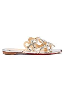83885edf5 Christian Louboutin Oxydock 100 Metallic Crystal Sandals