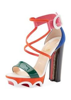 Christian Louboutin Olympika Colorblock Red Sole Sandal