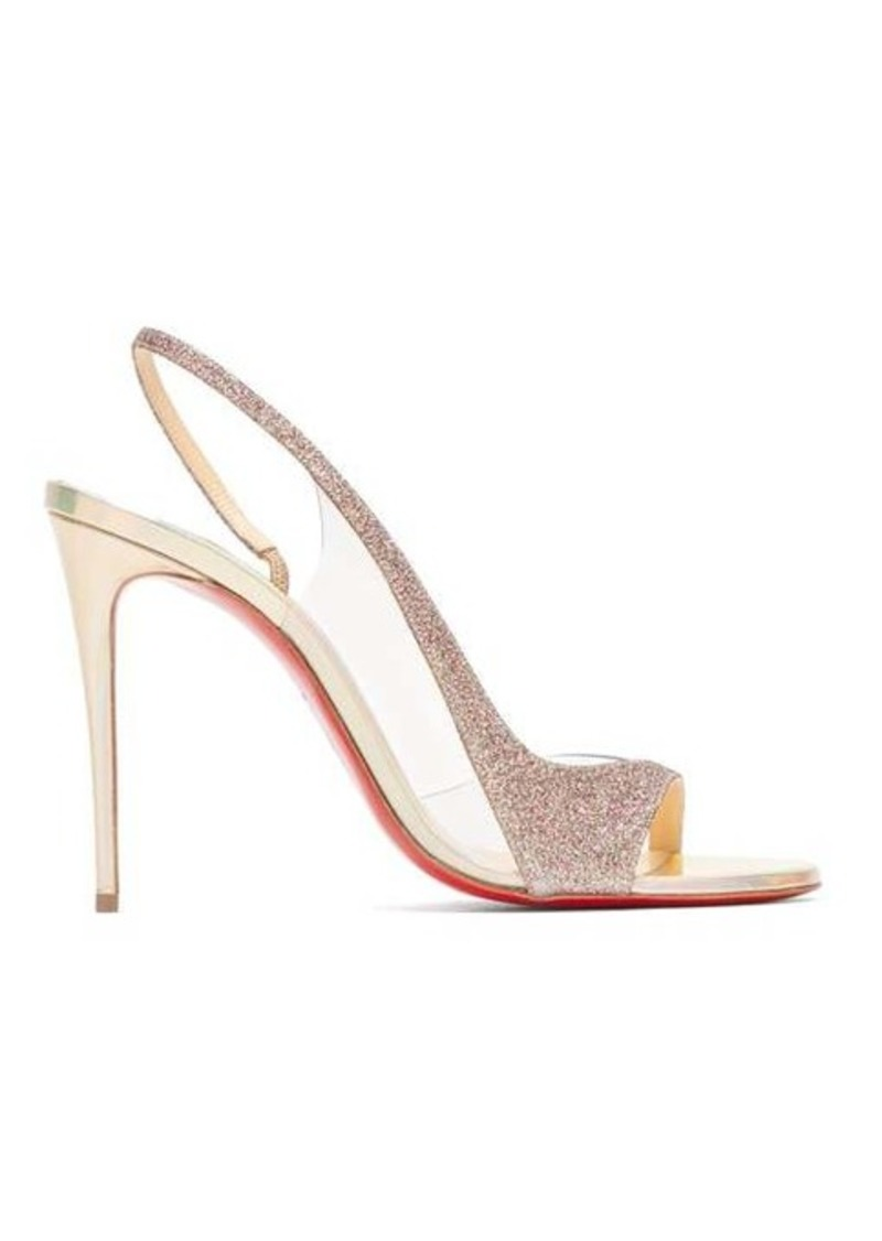 Christian Louboutin Optisling 100 glittered-strap sandals