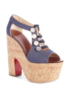 Christian Louboutin Ordonanette Platform Sandal (Women)