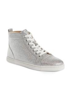 Christian Louboutin Orlato Metallic High Top Sneaker (Women)