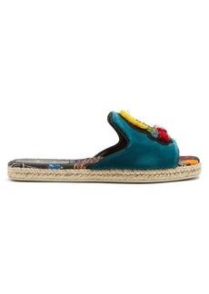 Christian Louboutin Pacha embellished espadrille slides
