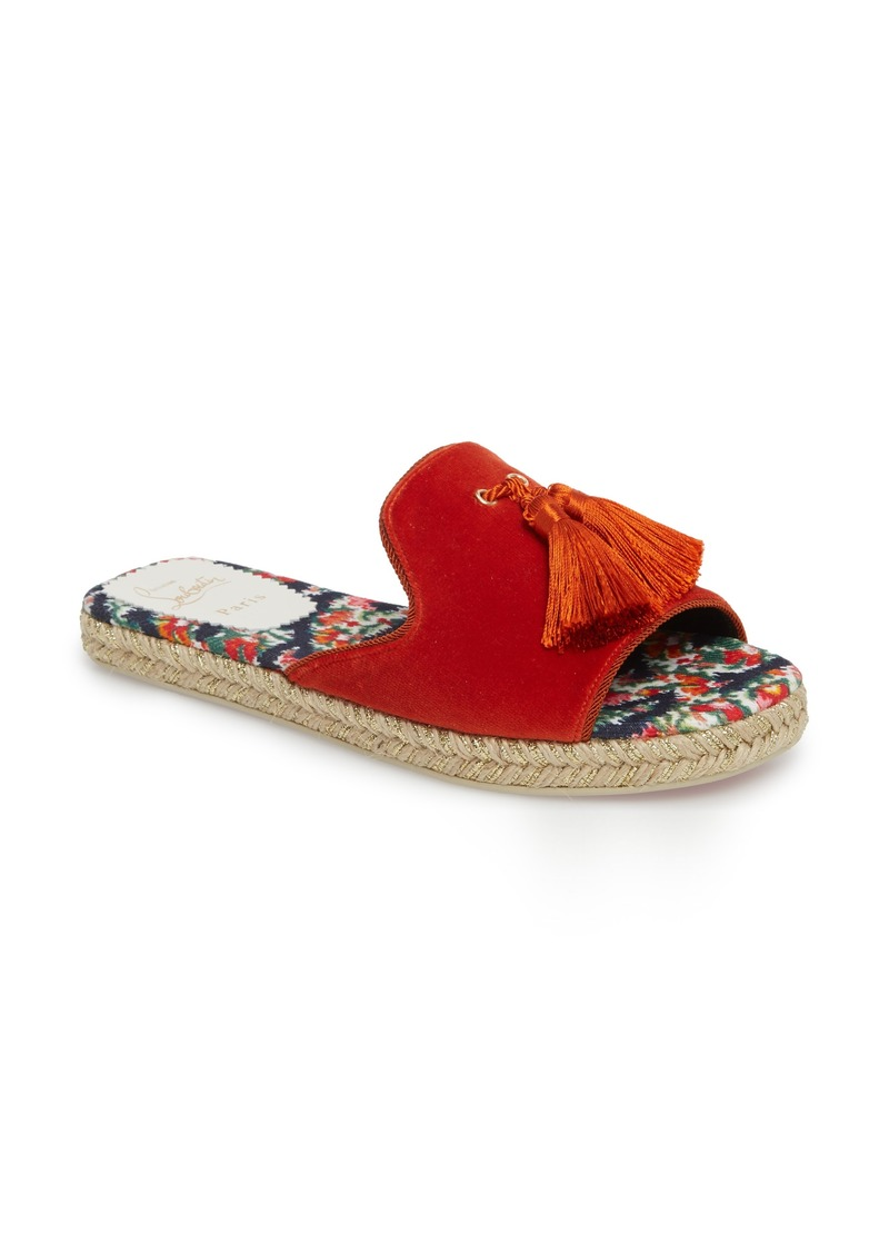 reputable site 0f75b c09e6 Christian Louboutin Christian Louboutin Pacha Tassel Open Toe Mule (Women)  | Shoes