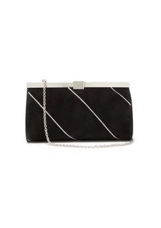 Christian Louboutin Palmette crystal-embellished suede cross-body bag