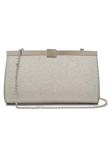 Christian Louboutin Palmette glittered-leather clutch bag