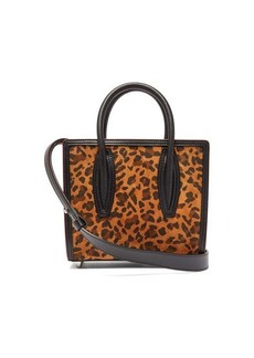 Christian Louboutin Paloma leopard-print suede tote bag