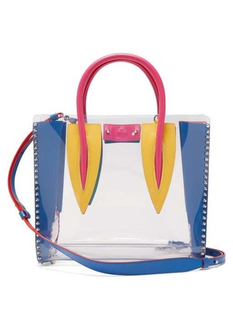 Christian Louboutin Paloma medium PVC and leather tote bag