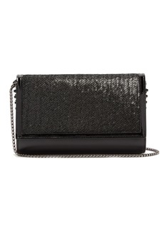 Christian Louboutin Paloma sequin-embellished clutch bag