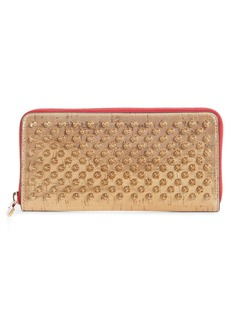 b3fcae5be1c Christian Louboutin Panettone Spiked Glittered Metallic Leather ...