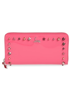 Christian Louboutin Panettone Studded Patent Leather Wallet