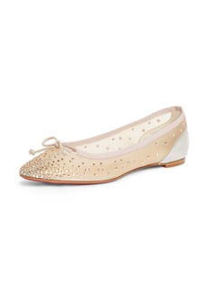 Christian Louboutin Patio Crystal Embellished Mesh Ballet Flat (Women)