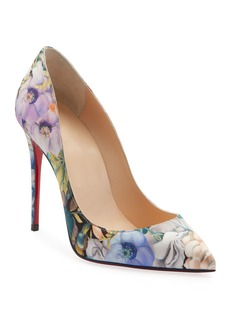Christian Louboutin Piagalle Follies Floral Red Sole Pumps