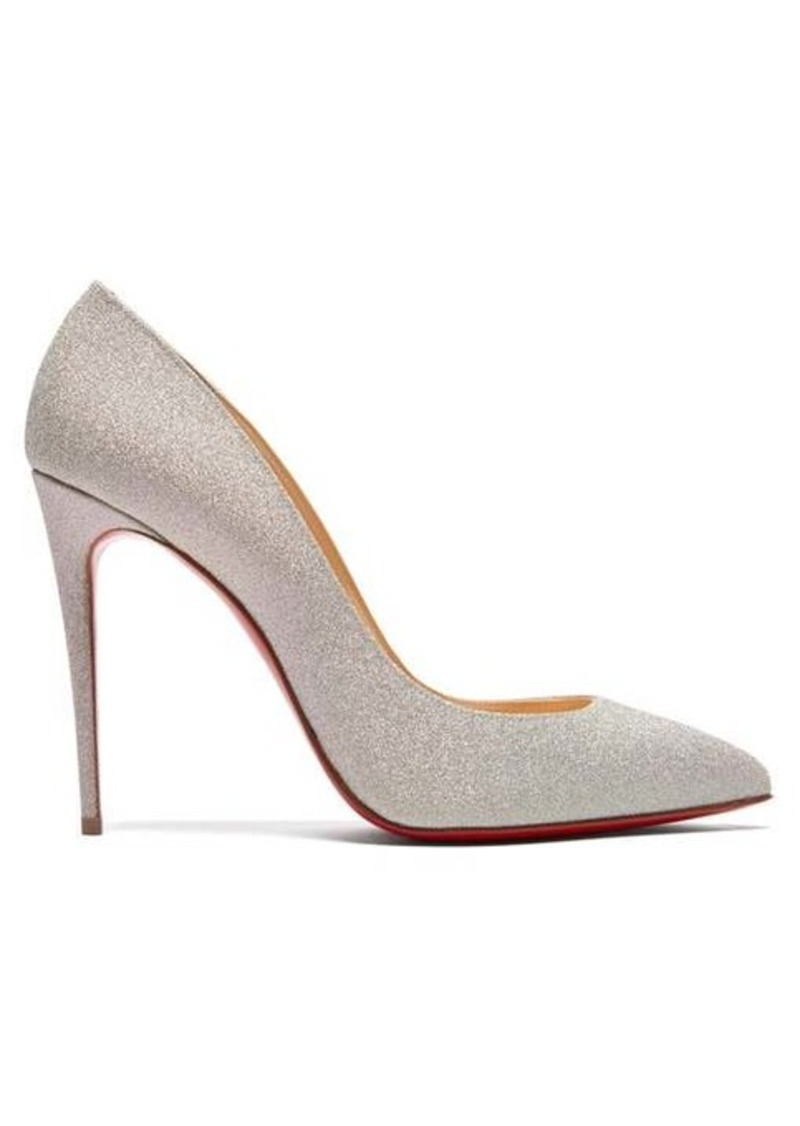 Christian Louboutin Pigalle Follies 100 glitter-embellished pumps