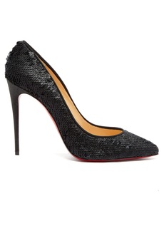 Christian Louboutin Pigalle Follies 100 sequin-embellished pumps