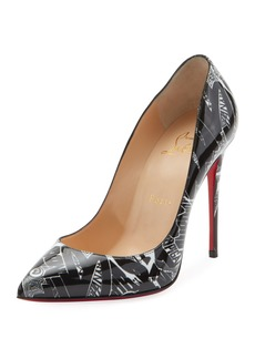 Christian Louboutin Pigalle Follies 100mm Patent Nicograf Red Sole Pumps