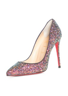 Christian Louboutin Pigalle Follies Glitter Pointed Toe Pump (Women)