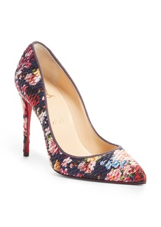 Christian Louboutin Pigalle Follies Matelassé Floral Pump (Women)