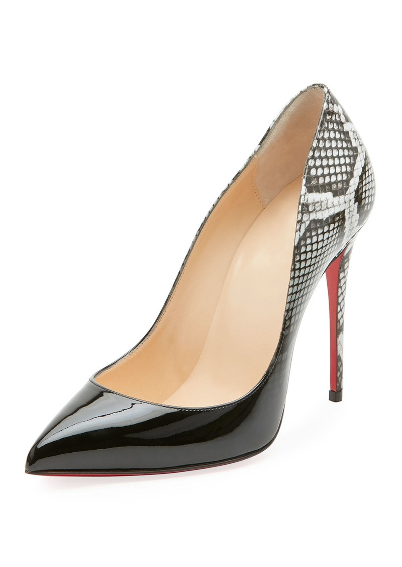 reputable site 4964f 6435f Pigalle Follies Ombre Snake-Print Red Sole Pump