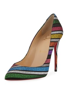 Christian Louboutin Pigalle Follies Striped Red Sole Pumps