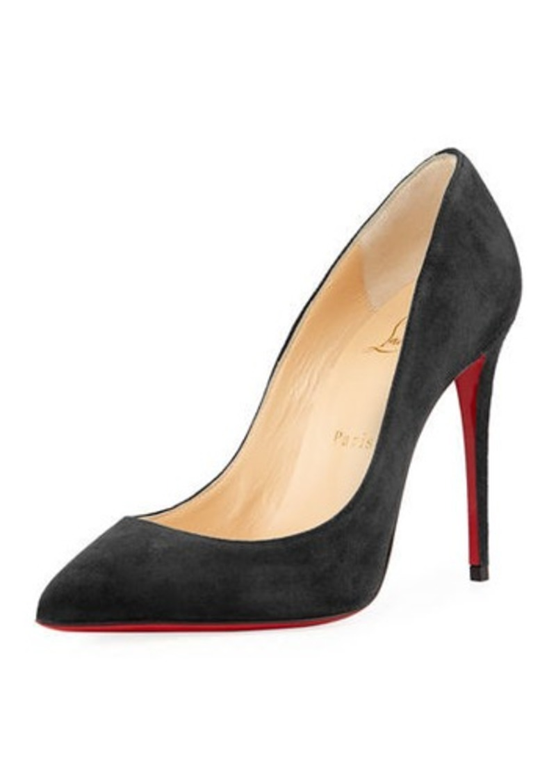 huge discount 4b3d5 b4cdd Pigalle Follies Suede Red Sole Pump