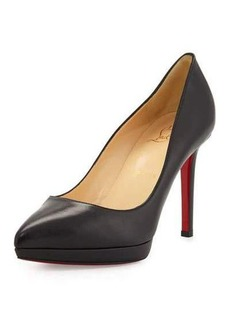 Christian Louboutin Pigalle Plato Leather Red Sole Pump