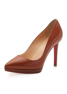Christian Louboutin Pigalle Plato Napa 100mm Red Sole Pump