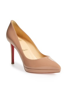 Christian Louboutin Pigalle Plato Pointy Toe Platform Pump