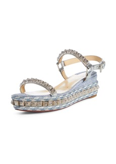 Christian Louboutin Pira Studded Wedge Sandal (Women)