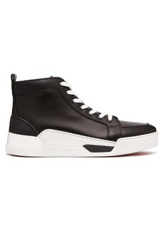 Christian Louboutin Rankick rubber-panelled high-top leather trainers