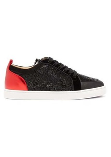 Christian Louboutin Rantulow crystal-embellished leather trainers