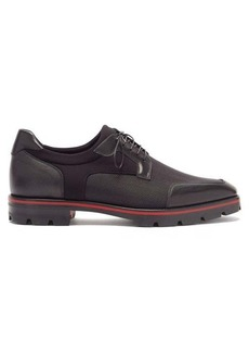 Christian Louboutin Simon leather-trimmed technical derby shoes