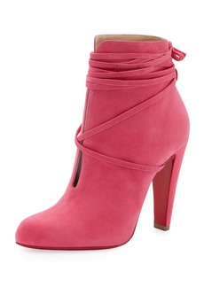 Christian Louboutin S.I.T. Rain Ankle-Wrap Red Sole Bootie
