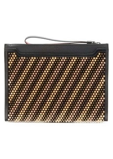 Christian Louboutin Skypouch studded leather pouch