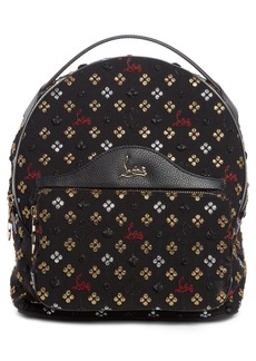 Christian Louboutin Small Backloubi Metallic Jacquard Backpack