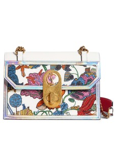 Christian Louboutin Small Elisa Botanique Embroidered Leather Shoulder Bag