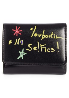 Christian Louboutin Small Loubigaga Calfskin Leather Wallet